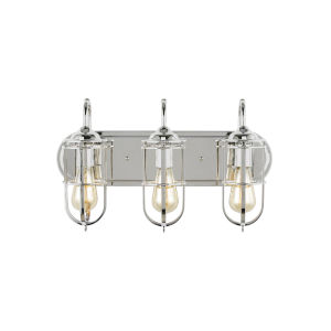 Urban Renewal Polished Nickel 21-Inch Three-Light Bath Vanity