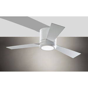 Clarity II Rubberized White 42-Inch LED Hugger Ceiling Fan