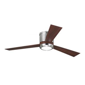 Clarity Brushed Steel 52-Inch LED Hugger Ceiling Fan