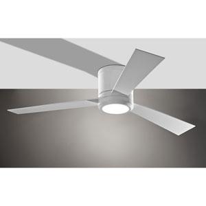 Clarity Rubberized White 52-Inch LED Hugger Ceiling Fan