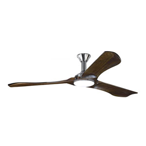 Minimalist Max Brushed Steel 72-Inch LED Outdoor Ceiling Fan
