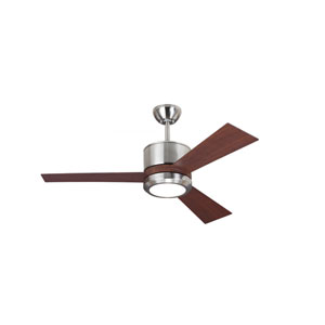 Vision II Brushed Steel 42-Inch LED Ceiling Fan