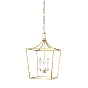 Southold Burnished Brass 14-Inch Three-Light Chandelier