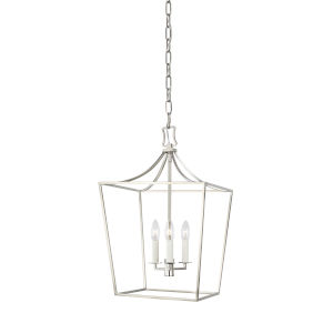 Southold Polished Nickel 14-Inch Three-Light Chandelier