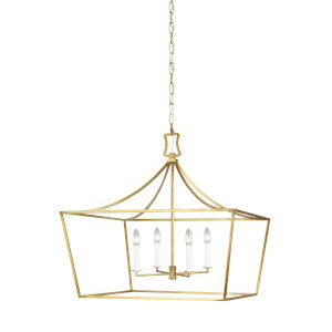 Southold Burnished Brass 28-Inch Four-Light Chandelier