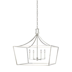 Southold Polished Nickel 28-Inch Four-Light Chandelier
