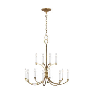 Westerly Antique Gold 29-Inch 12-Light Chandelier