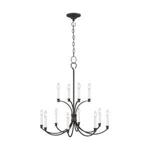 Westerly Smith Steel 29-Inch 12-Light Chandelier