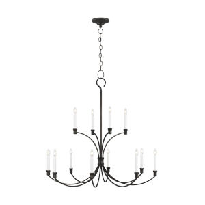 Westerly Smith Steel 42-Inch 12-Light Chandelier