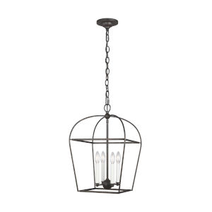 Stonington Smith Steel 13-Inch Four-Light Chandelier