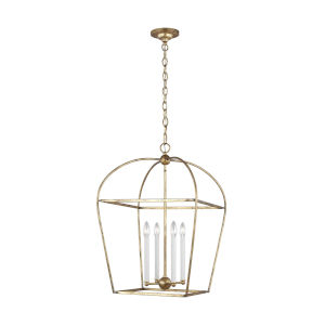 Stonington Antique Gold 18-Inch Four-Light Chandelier