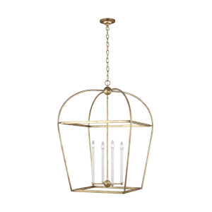 Stonington Antique Gold 25-Inch Four-Light Chandelier