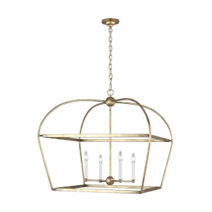 Stonington Antique Gold 30-Inch Four-Light Chandelier