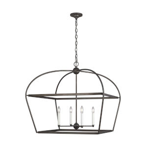 Stonington Smith Steel 30-Inch Four-Light Chandelier