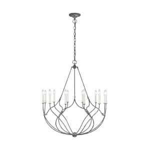 Richmond Weathered Galvanized 31-Inch 12-Light Chandelier
