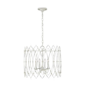 Gardner Rustic White 22-Inch Four-Light Chandelier