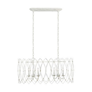 Gardner Rustic White 17-Inch Six-Light Chandelier