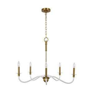 Hanover Burnished Brass Five-Light Chandelier