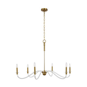 Hanover Burnished Brass Six-Light Chandelier