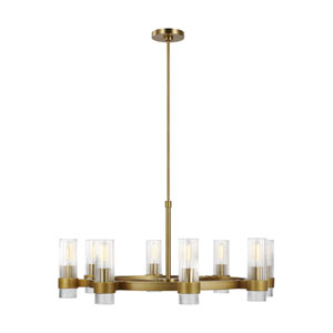 Geneva Burnished Brass Eight-Light Chandelier
