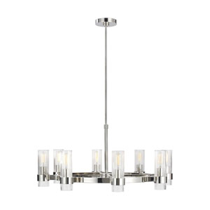 Geneva Polished Nickel Eight-Light Chandelier
