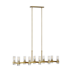 Geneva Burnished Brass 10-Light Chandelier