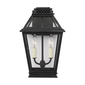 Falmouth Dark Weathered Zinc Two-Light Outdoor Wall Sconce