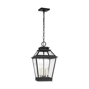Falmouth Dark Weathered Zinc Four-Light Outdoor Pendant