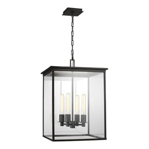 Freeport Heritage Copper Black 17-Inch Four-Light Outdoor Pendant