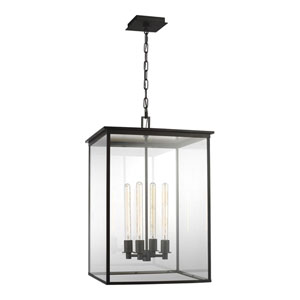 Freeport Heritage Copper Black 20-Inch Four-Light Outdoor Pendant