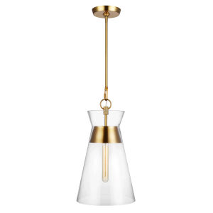Atlantic Burnished Brass 11-Inch One-Light Pendant