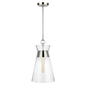Atlantic Polished Nickel 11-Inch One-Light Pendant