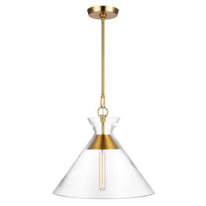 Atlantic Burnished Brass 18-Inch One-Light Pendant