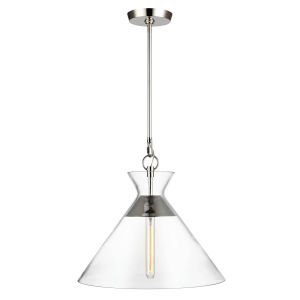 Atlantic Polished Nickel 18-Inch One-Light Pendant
