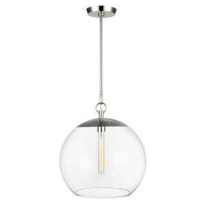 Atlantic Polished Nickel 16-Inch One-Light Pendant