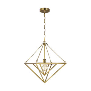 Carat Burnished Brass 16-Inch One-Light Pendant
