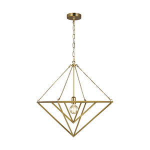 Carat Burnished Brass 20-Inch One-Light Pendant
