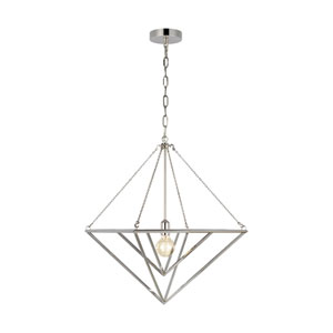 Carat Polished Nickel 20-Inch One-Light Pendant