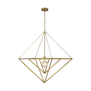 Carat Burnished Brass 30-Inch One-Light Pendant