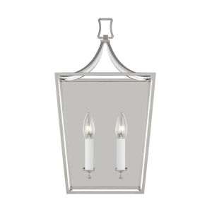 Southold Polished Nickel 10-Inch Two-Light Wall Sconce