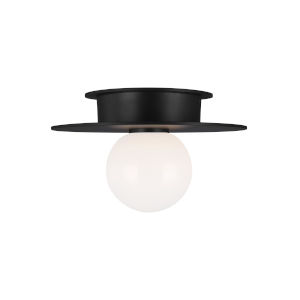Nodes Midnight Black 8-Inch One-Light Flush Mount
