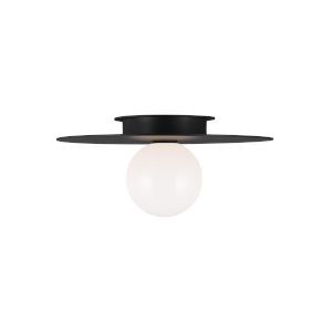 Nodes Midnight Black 14-Inch One-Light Flush Mount