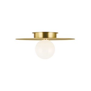 Nodes Burnished Brass 18-Inch One-Light Flush Mount