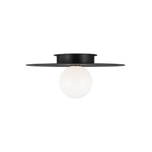 Nodes Midnight Black 18-Inch One-Light Flush Mount