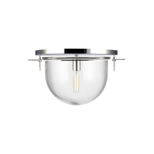 Nuance Polished Nickel 18-Inch One-Light Flush Mount