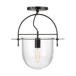 Nuance Aged Iron 15-Inch One-Light Semi Flush Mount