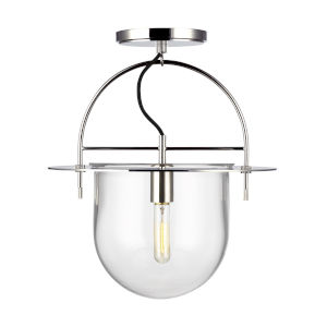 Nuance Polished Nickel 15-Inch One-Light Semi Flush Mount