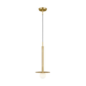 Nodes Burnished Brass 8-Inch One-Light Mini Pendant