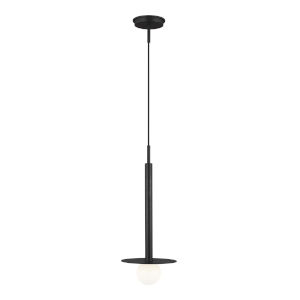 Nodes Midnight Black 8-Inch One-Light Mini Pendant