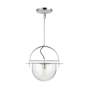 Nuance Polished Nickel 18-Inch One-Light Pendant